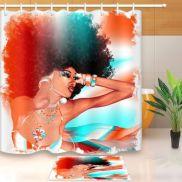 Amazing bathroom curtain ideas for 2019 10
