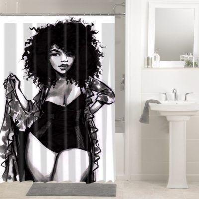 Amazing bathroom curtain ideas for 2019 42