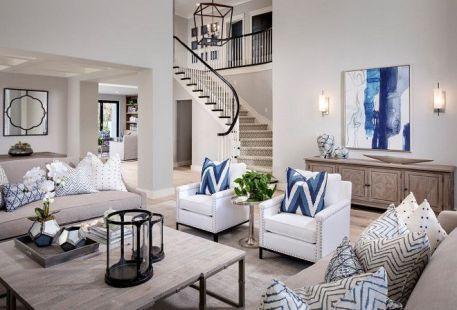 Awesome big living room design ideas with stairs 23