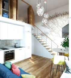 Awesome big living room design ideas with stairs 36