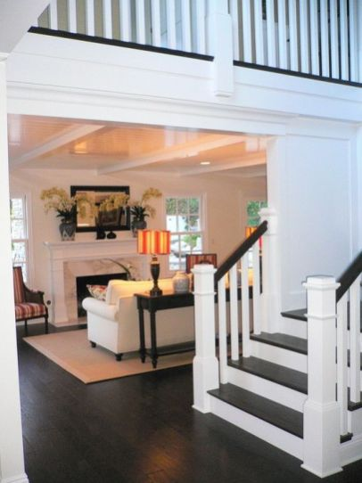 Awesome big living room design ideas with stairs 45