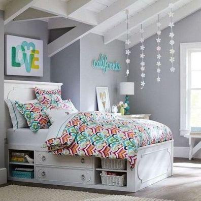 Charming fun tween bedroom ideas for girl 31