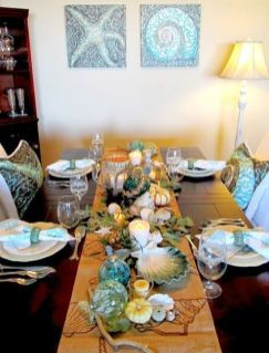 Comfy formal table centerpieces decorating ideas for dining room 23