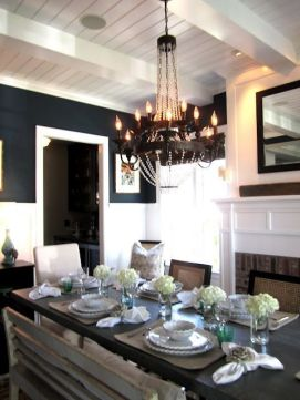 Comfy formal table centerpieces decorating ideas for dining room 25