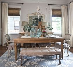 Comfy formal table centerpieces decorating ideas for dining room 29