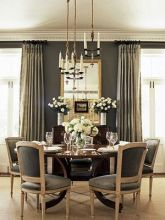 Comfy formal table centerpieces decorating ideas for dining room 39