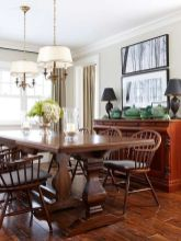 Comfy formal table centerpieces decorating ideas for dining room 41