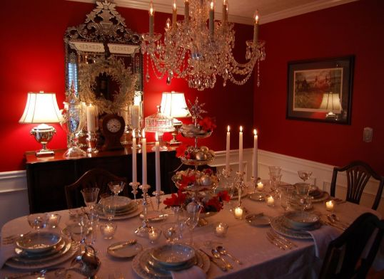 Comfy formal table centerpieces decorating ideas for dining room 42
