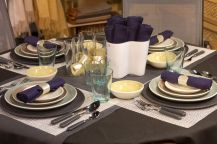 Comfy formal table centerpieces decorating ideas for dining room 56