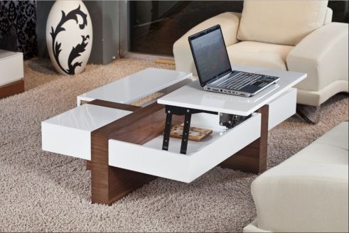 Creative coffee table design ideas for living room 21