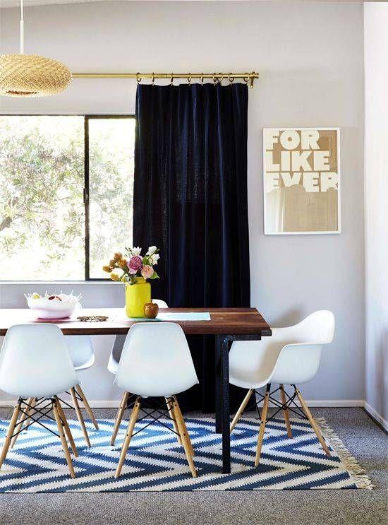 Cute dining room rug decorating ideas 18