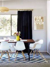 Cute dining room rug decorating ideas 18