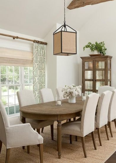 Cute dining room rug decorating ideas 23