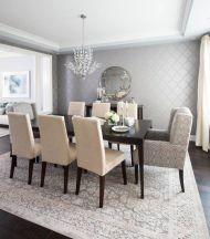 Cute dining room rug decorating ideas 41