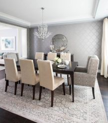 Cute dining room rug decorating ideas 41