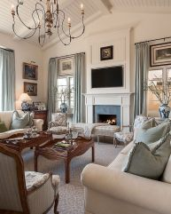 Cute french style living room for new home style 03