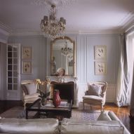 Cute french style living room for new home style 08