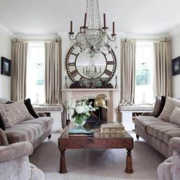 Cute french style living room for new home style 13