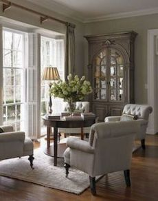 Cute french style living room for new home style 15