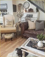 Cute french style living room for new home style 24
