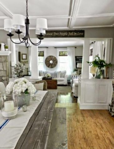 Cute french style living room for new home style 29