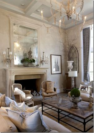 Cute french style living room for new home style 31