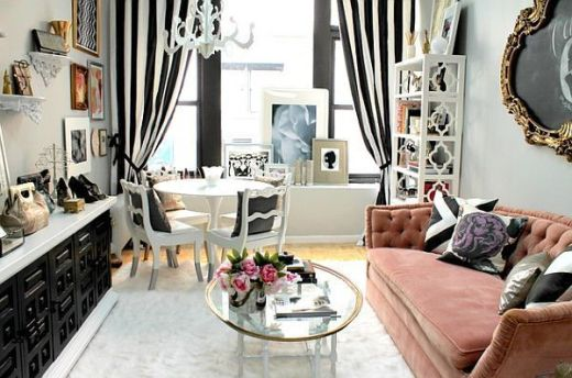 Cute french style living room for new home style 38
