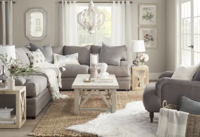 Cute french style living room for new home style 39