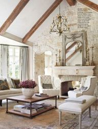 Cute french style living room for new home style 42