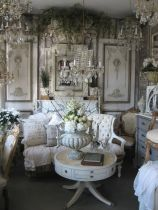 Cute french style living room for new home style 47