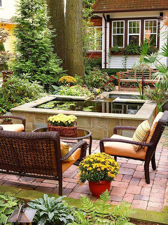 Elegant backyard landscaping ideas using bricks 42