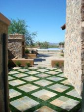 Elegant backyard landscaping ideas using bricks 49