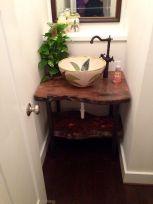 Elegant bowl less sink bathroom ideas 09