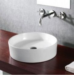 Elegant bowl less sink bathroom ideas 10