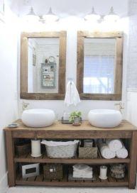 Elegant bowl less sink bathroom ideas 18