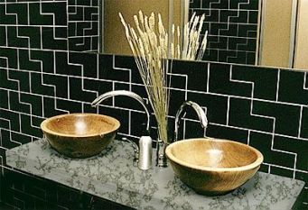 Elegant bowl less sink bathroom ideas 25