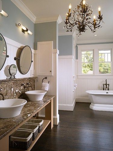 Elegant bowl less sink bathroom ideas 39