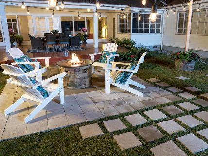 Gorgeous night yard landscape lighting design ideas 02