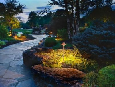 Gorgeous night yard landscape lighting design ideas 08