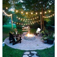 Gorgeous night yard landscape lighting design ideas 19