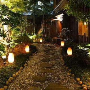 Gorgeous night yard landscape lighting design ideas 35