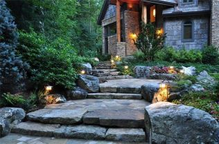 Gorgeous night yard landscape lighting design ideas 37