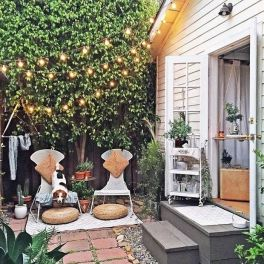 Modern small outdoor patio design decorating ideas 14