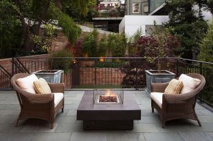 Modern small outdoor patio design decorating ideas 16