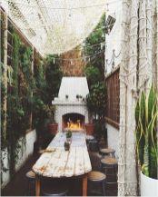 Modern small outdoor patio design decorating ideas 30