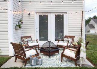 Modern small outdoor patio design decorating ideas 35
