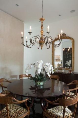 Unique dining room design ideas with french style 29