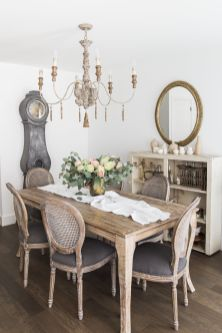 Unique dining room design ideas with french style 31