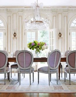 Unique dining room design ideas with french style 46