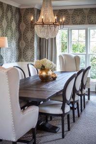 Unique dining room design ideas with french style 47